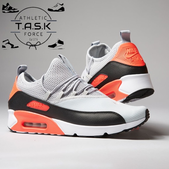 Nike Air Max 90 EZ Wolf Grey Crimson AO1745 002 NWT